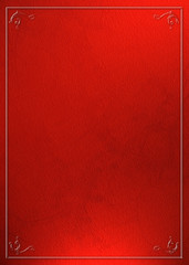Red abstract background with borders