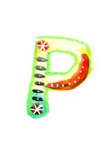 アルファベット小文字p
