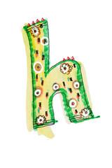 アルファベット小文字h
