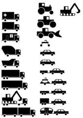 Verschiedene Fahrzeuge aller Art