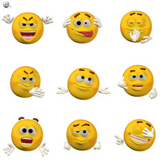 comic emoticon set