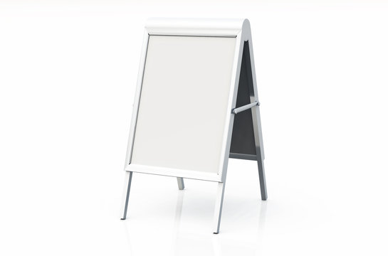 DIN Format Kundenstopper + Klapprahmen - Blanko 02