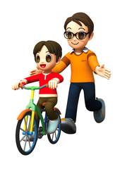 ファミリーA-自転車練習1