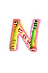 アルファベット大文字N