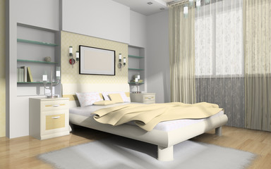 Interior to bedrooms