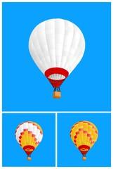 3 hot air ballon