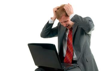 The upset businessman