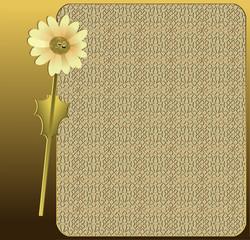 Carbon Blue Golden Floral layout