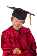 Child successfully graduates from his class