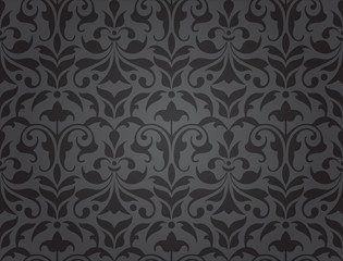 seamless damask wallpaper (vector)