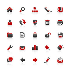 Red & Black Website Icons