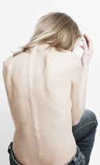 back of thin woman
