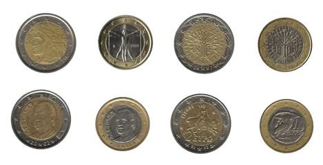 European Mediterranean countries' currencies