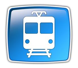 """Glossy Button """"Train"""""""