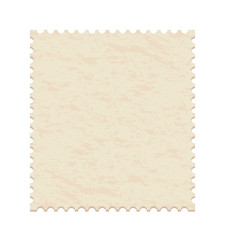 vector illustration of a  blank post stamp