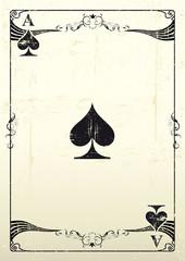 Ace Of Spades grunge background