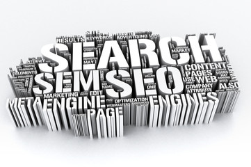 SEO 3D - Search engine optimization isolated on white