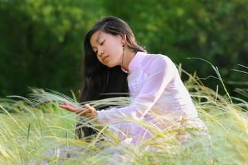 vietnamese girl in national suit
