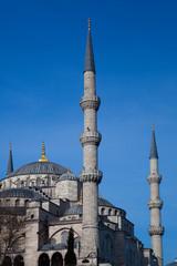 Minaretes de la mezquita azul, Estambul, Turquia