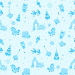 seamless wallpaper vintage vector blue for children