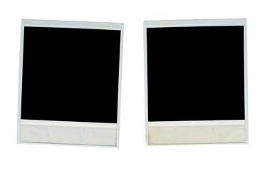 Blank photo frames isolated on white