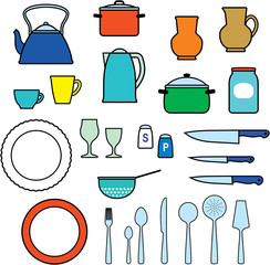 Kitchen utensils, kitchenware