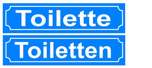 Schild Toilette Toiletten