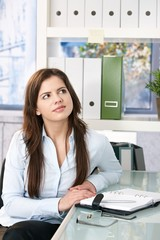 Female assistant in office