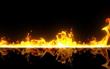 burning on black background