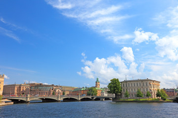 Cityscape of central Stockholm.