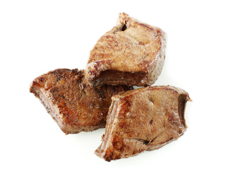 roasted liver isolated