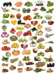 Papiers peints Legume Frutas, verduras y especias.