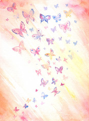 Background with butterflies.
