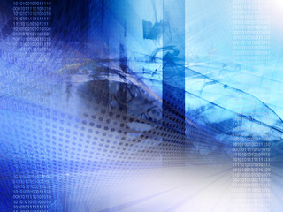 Abstract technology, binary code