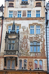 Prague, Old Town Square, Wenceslas house with holy