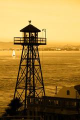Alcatraz Guard Tower Silhouette