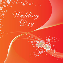 wedding day, card red