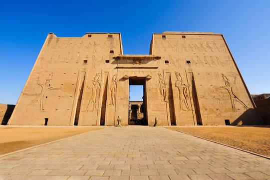 Horus temple in Edfu, Egypt