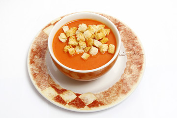 fresh and tasty hot soup