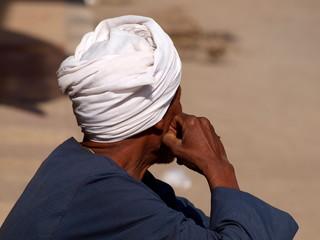 arab with white turban