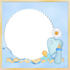 Background for baby-boy with frame