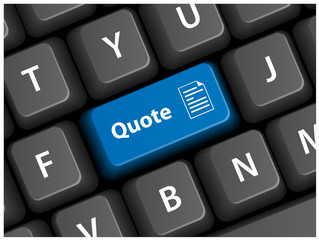 """QUOTE"" key on keyboard (quotation free online customer)"