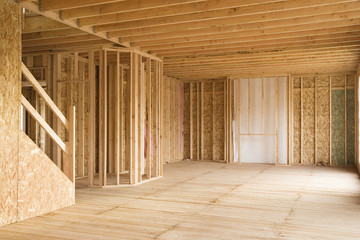 Partially Constructed House Interior