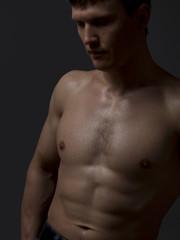Portrait of Beautiful Sexy Man
