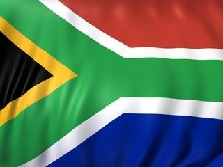 südafrika fahne 3d