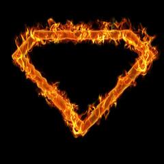 Burning superman frame