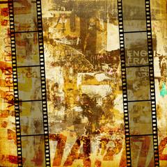 Photo sur Aluminium Journaux Grunge graphic abstract background with film digital