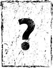 Grunge question Mark