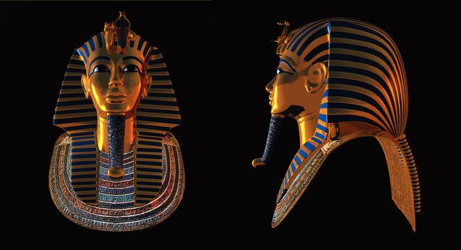 Two pharaoh death masks