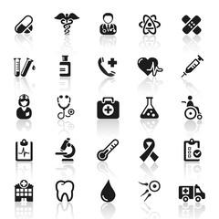 set 8 - medicine icons - black series